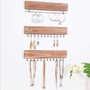 Wooden Hanging Jewelry Organizer